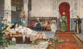 Besuch Im Harem 1901 - Juan Gimenez Martin reproduction oil painting