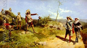 Cavaliers in the Field - Juan Gimenez Martin reproduction oil painting