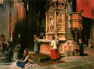 Interior de la Catedral de Avila 1901 - Juan Gimenez Martin