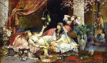 In the Harem B - Juan Gimenez Martin reproduction oil painting