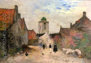 A View in Katwijk 1903 - Siebe Johannes Ten Cate reproduction oil painting