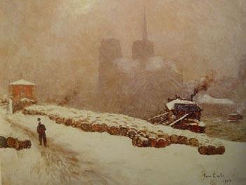 Notre Dame de Paris Sous La Neige - Siebe Johannes Ten Cate reproduction oil painting