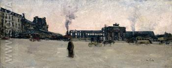 Tuileries After the Firing Seen the Great Basin c1880 - Siebe Johannes Ten Cate reproduction oil painting