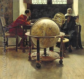 Galileo and Viviani 1892 - Tito Lessi reproduction oil painting