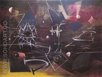 To Escape The Absolute 1944 - Roberto Matta reproduction oil painting