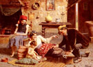 A Happy Family - Eugenio Zampighi reproduction oil painting