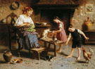 Feeding Time - Eugenio Zampighi reproduction oil painting