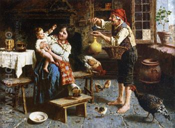 Grapes for Baby - Eugenio Zampighi reproduction oil painting