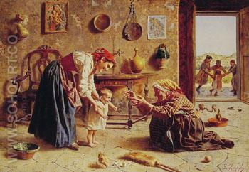 The First Step Country - Eugenio Zampighi reproduction oil painting