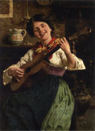 The Serenade - Eugenio Zampighi reproduction oil painting
