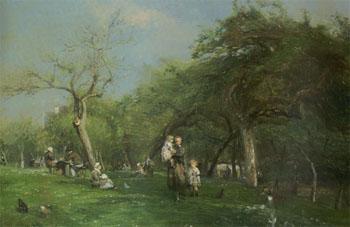 Un Dimanche A Saint Simeon 1876 - Adolf Felix Cals reproduction oil painting