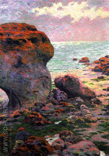 Rochers a Yport 1889 - Emile Schuffenecker reproduction oil painting