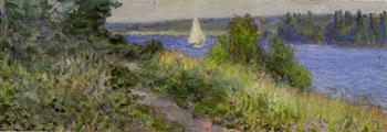 La Seine A La Bouille Coup de Vent Detail - Alfred Sisley reproduction oil painting