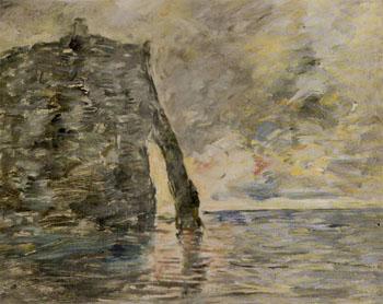 Falaises A Etretat - Eugene Boudin reproduction oil painting