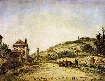 Le Cote de Saint Andre Yser - Johan Barthold Jongkind reproduction oil painting