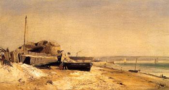 Sainte Adresse B - Johan Barthold Jongkind reproduction oil painting