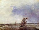 Ships at Sea - Johan Barthold Jongkind
