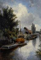 Shipyard Along the Schie Near Delft - Johan Barthold Jongkind