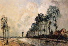 The Oorcq Canal Aisne - Johan Barthold Jongkind reproduction oil painting
