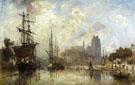 The Port of Dordrecht - Johan Barthold Jongkind