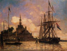 The Port of Rotterdam A - Johan Barthold Jongkind reproduction oil painting