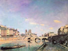 The Seine and Notre Dame in Paris 1864 - Johan Barthold Jongkind reproduction oil painting