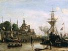 View on Harbour Rotterdam Sun - Johan Barthold Jongkind