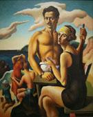 Self Portrait with Rita 1922 - Thomas Hart Benton