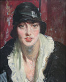 Portrait of Mademoiselle Georgette Camille 1925 - Jacques Emile Blanche reproduction oil painting
