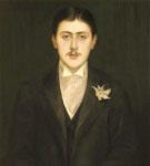 Portrait of Marcel Proust - Jacques Emile Blanche