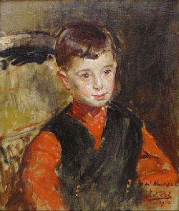 Portrait of Narischkin 1910 - Jacques Emile Blanche reproduction oil painting