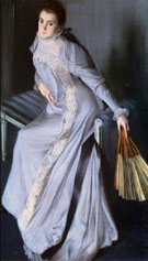 Portrait of Senora Eugenia Huici De Errazuriz - Jacques Emile Blanche