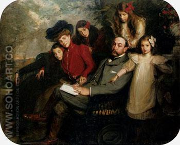 The Poet Francis Viele Griffin and His Family - Jacques Emile Blanche reproduction oil painting