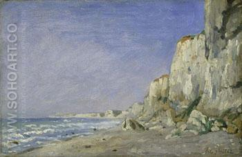 Cliffs Near Dieppe - Adolf Felix Cals reproduction oil painting