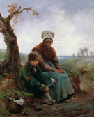 Peasant Woman and Boy 1846 - Adolf Felix Cals