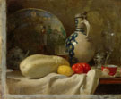 Still Life with a Cucumber and a Pitcher 1847 - Adolf Felix Cals