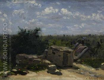 The Well in the Rue Montlaville Orrouy A - Adolf Felix Cals reproduction oil painting