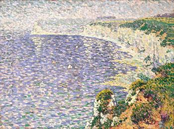 A View of the Cliffs at Etretat 1888 - Emile Schuffenecker reproduction oil painting