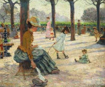 Luxembourg Square - Emile Schuffenecker reproduction oil painting