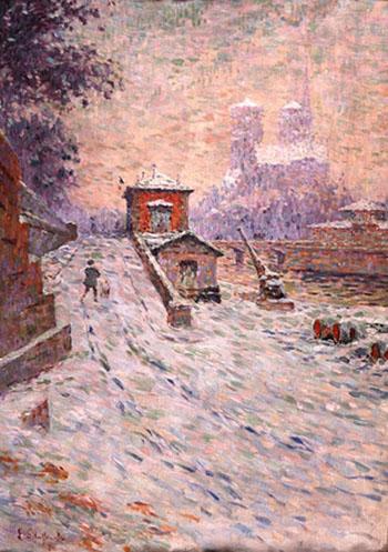 Notre Dame in Paris - Emile Schuffenecker reproduction oil painting