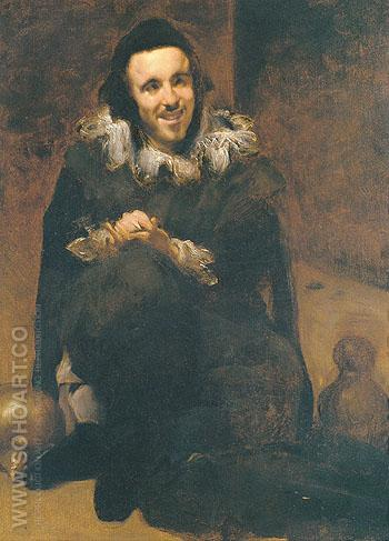 Buffoon Juande Calabazas after Valazquez 1879 - John Singer Sargent reproduction oil painting