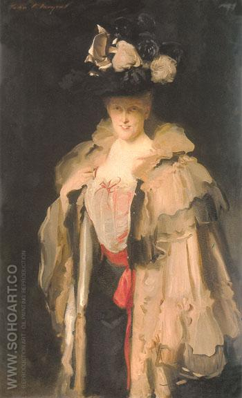 Mrs Charles Hunter 1898 - John Singer Sargent reproduction oil painting