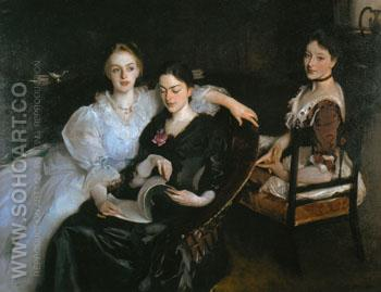 The Misses Vickers 1884 - John Singer Sargent reproduction oil painting