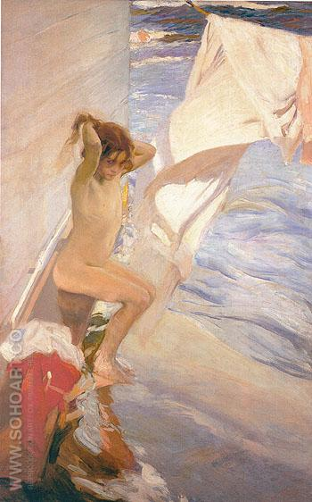 Before Bathing 1909 - Joaquin Sorolla reproduction oil painting