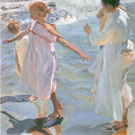 The Bathing Hour Valencia 1909 - Joaquin Sorolla reproduction oil painting