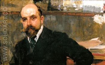 Portrait of Jose Artal 1900 - Joaquin Sorolla reproduction oil painting