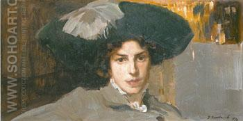 Maria with Hat 1910 - Joaquin Sorolla reproduction oil painting