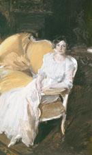 Clotilde Seated on the Sofa 1910 - Joaquin Sorolla
