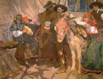 Leonese Peasants 1907 - Joaquin Sorolla reproduction oil painting