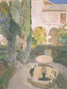 Lindaraja Garden in the Alhambra Granada 1910 - Joaquin Sorolla